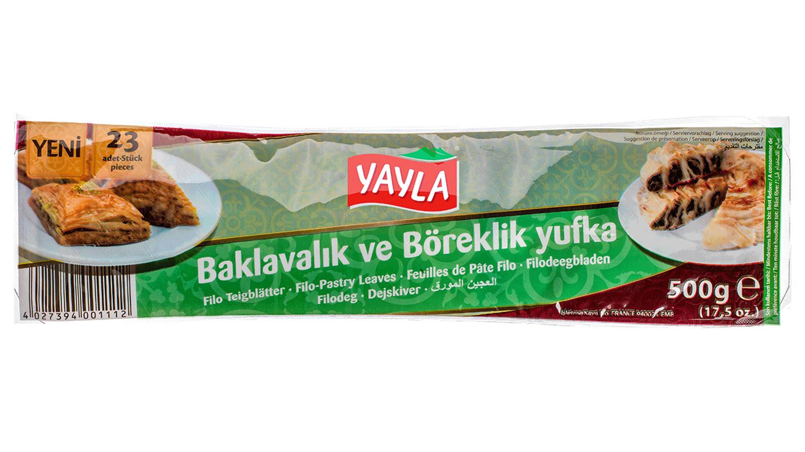 Yayla | Blätterteig für Börek und Baklava